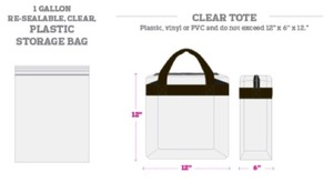 BAG GUIDELINES FOR EVENTS AT PIONEER