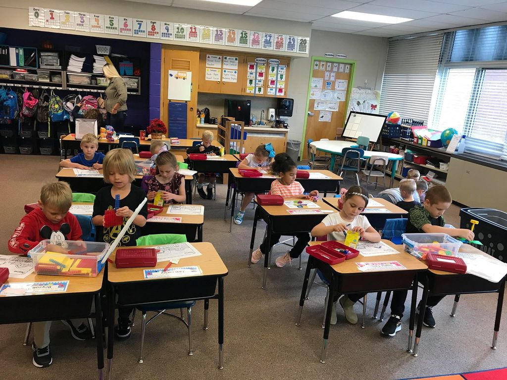 Mrs. Wagner's first graders working hard!
